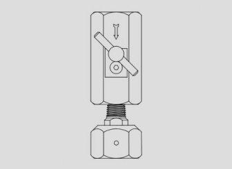 Накручивающаяся муфта клапана